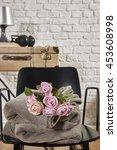 black chair flower apartment... | Shutterstock . vector #453608998