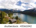 view of st. moritz lake in... | Shutterstock . vector #45361042