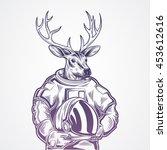 hand draw deer    Shutterstock .eps vector #453612616