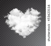 realistic vector cloud heart.... | Shutterstock .eps vector #453623116