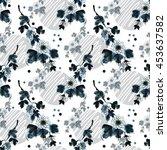 floral seamless pattern ... | Shutterstock . vector #453637582