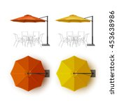 Vector Set Of Orange Yellow...