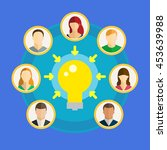 concept of crowdsourcing. group ... | Shutterstock .eps vector #453639988