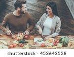 cooking healthy. top view of... | Shutterstock . vector #453643528