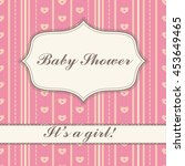 background with banner baby...   Shutterstock . vector #453649465