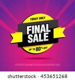 final sale banner. special... | Shutterstock .eps vector #453651268