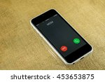 smartphone incoming mother... | Shutterstock . vector #453653875