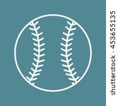 baseball line art icon for... | Shutterstock .eps vector #453655135