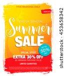 summer sale template banner | Shutterstock .eps vector #453658342