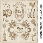 wine. vintage set   Shutterstock .eps vector #453665308
