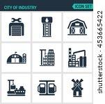 set of modern vector icons.... | Shutterstock .eps vector #453665422