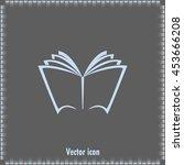 vector book icon | Shutterstock .eps vector #453666208