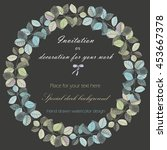 wreath  circle frame with the... | Shutterstock . vector #453667378