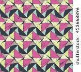 ethnic boho seamless pattern.... | Shutterstock .eps vector #453668896