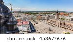 cracow  poland panorama. view... | Shutterstock . vector #453672676