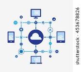 cloud computing concept | Shutterstock .eps vector #453678826