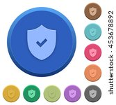 set of round color embossed... | Shutterstock .eps vector #453678892