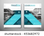 business brochure flyer design... | Shutterstock .eps vector #453682972