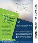 vector brochure  flyer ... | Shutterstock .eps vector #453696928