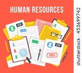 human resources  team...   Shutterstock .eps vector #453699742