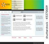 web site design template ... | Shutterstock .eps vector #45370009