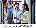 indonesian co workers  men and... | Shutterstock . vector #453701605