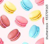 seamless pastel macarons | Shutterstock .eps vector #453709165