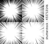 set of abstract comic book...   Shutterstock .eps vector #453713146