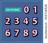 set of 3d numbers in retro...   Shutterstock .eps vector #453718528