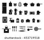 kitchen appliances and utensils ... | Shutterstock .eps vector #453719518