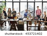 worker team  business corporate ... | Shutterstock . vector #453721402