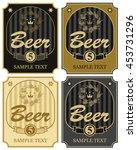 set of vector labels for beer...   Shutterstock .eps vector #453731296