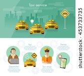 taxi service dispatcher... | Shutterstock .eps vector #453733735