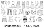 woman clothes | Shutterstock .eps vector #453737026