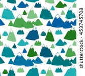 seamless vector pattern with... | Shutterstock .eps vector #453745708