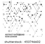vector abstract mesh and dots... | Shutterstock .eps vector #453746602