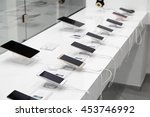 several smartphones and tablets ... | Shutterstock . vector #453746992