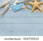 gone to the beach summer... | Shutterstock . vector #453755515