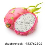 isolated dragonfruits. one and... | Shutterstock . vector #453762502