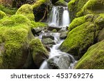 Close Up Of Small Waterfall An...