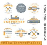 Set Of Vintage Logos Carpentry...