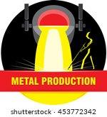 blast furnace metal smelting.... | Shutterstock .eps vector #453772342