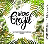 vector summer poster  banner or ... | Shutterstock .eps vector #453772672