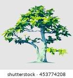 vector polygonal tree...   Shutterstock .eps vector #453774208