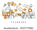 teamwork  people team   on... | Shutterstock .eps vector #453777082