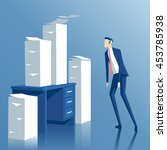 business concept paper work  a...   Shutterstock .eps vector #453785938