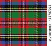 seamless pattern scottish... | Shutterstock . vector #453787018