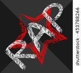 text rap painted rough brush.... | Shutterstock .eps vector #453788266