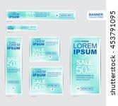 blue banner advertising... | Shutterstock .eps vector #453791095