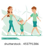 family characters design | Shutterstock .eps vector #453791386